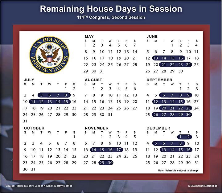 Congress calendar