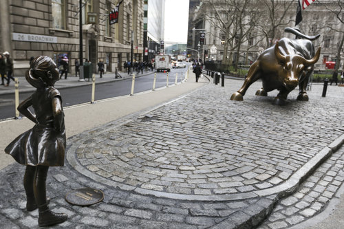 Controversy over Wall Street's bull